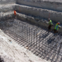 Foundations for Rail Discharge Pit for Transload